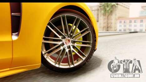 Porsche Panamera 4S 2017 v3 para GTA San Andreas traseira esquerda vista