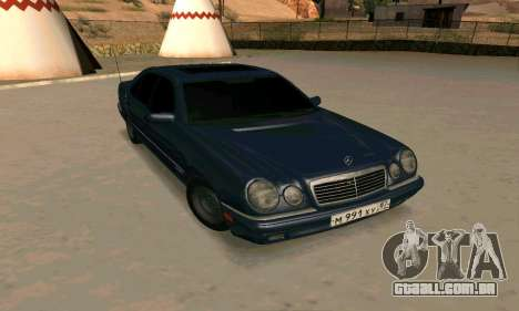 Mercedes-Benz E420 para GTA San Andreas vista interior