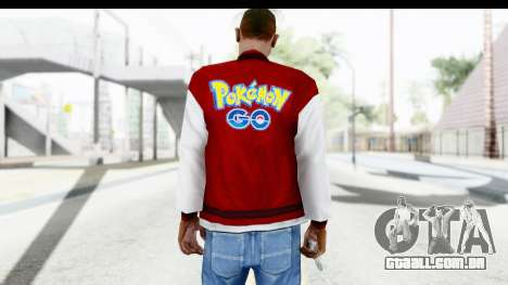 Jacket Pokemon Pokeball para GTA San Andreas segunda tela