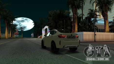 BMW X6M Bulkin Edition para GTA San Andreas vista traseira