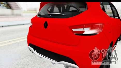 Renault Clio Four Air para GTA San Andreas vista traseira