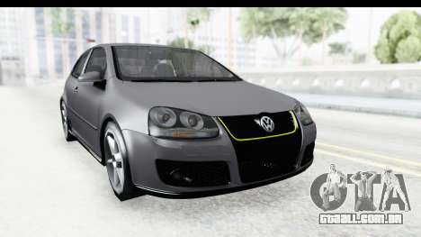 Volkswagen Golf 5 Stock para GTA San Andreas vista direita