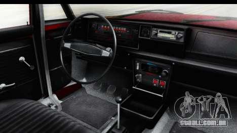 Zastava 125PZ Roadster Coupe para GTA San Andreas vista interior