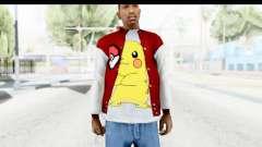 Jacket Pokemon Pokeball para GTA San Andreas