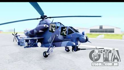 Denel AH-2 Rooivalk Blue para GTA San Andreas
