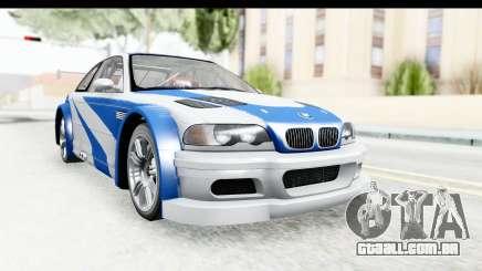 NFS: MW - BMW M3 GTR para GTA San Andreas