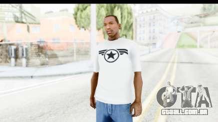 Captain America White T-Shirt para GTA San Andreas