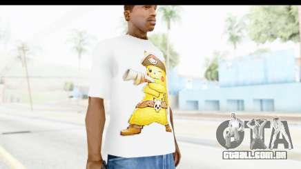 T-Shirt Pokemon Go Pikachu para GTA San Andreas