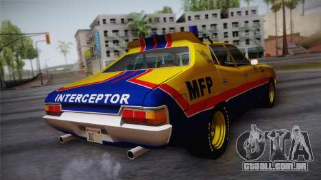 Main Force Patrol Vehicle Mad Max para GTA San Andreas esquerda vista