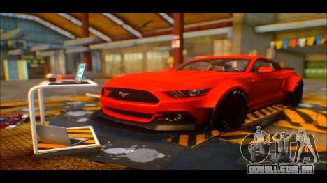 Ford Mustang 2015 Liberty Walk LP Performance para GTA San Andreas vista traseira