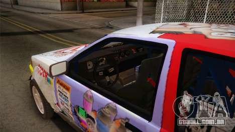 Toyota AE86 2 Door Levin para GTA San Andreas vista interior