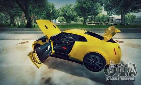 Nissan GT-R R35 Premium para GTA San Andreas vista traseira
