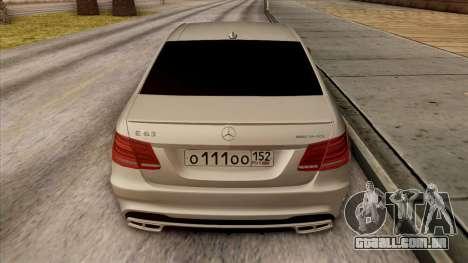 Mercedes-Benz E63 v.2 para o motor de GTA San Andreas