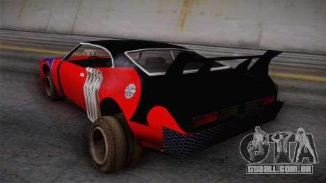 Ford Falcon 1972 Red Bat para GTA San Andreas esquerda vista