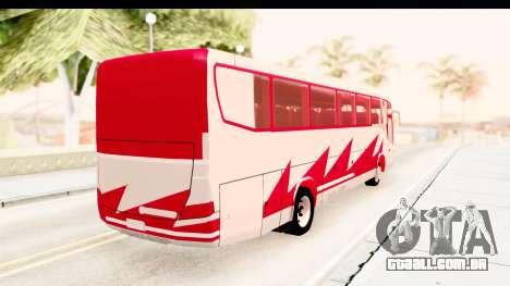 Smaga Bus para GTA San Andreas traseira esquerda vista