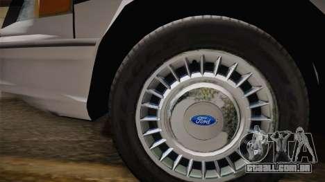 Ford Crown Victoria 1997 El Quebrados Police para GTA San Andreas vista direita