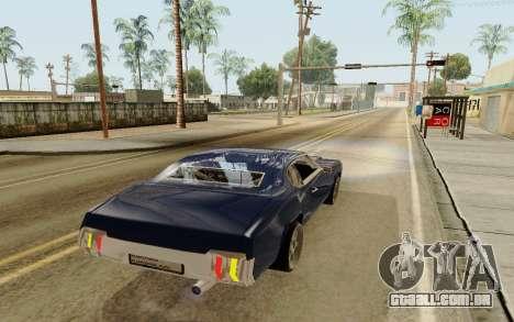 HD Sabre Greedy para GTA San Andreas traseira esquerda vista