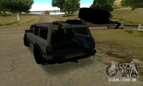 Toyota Land Cruiser 80 para GTA San Andreas vista traseira