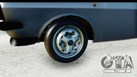 Dacia 1300 Sport Cabrio para GTA San Andreas vista traseira