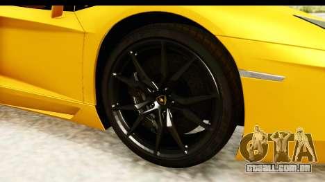 Lamborghini Aventador LP700-4 Roadster v2 para GTA San Andreas vista traseira