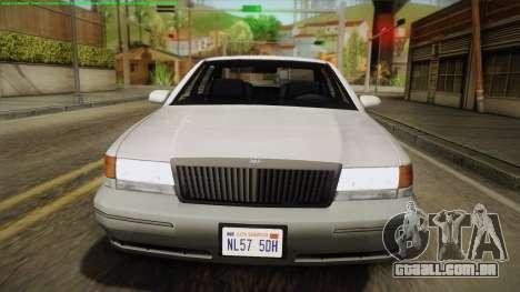 Willard Elegant IVF para GTA San Andreas vista direita