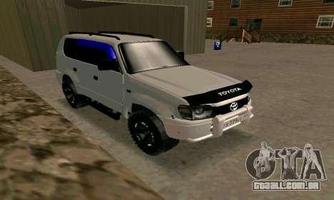Toyota Land Cruiser 95 para GTA San Andreas vista direita