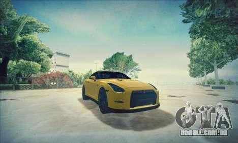 Nissan GT-R R35 Premium para GTA San Andreas vista superior