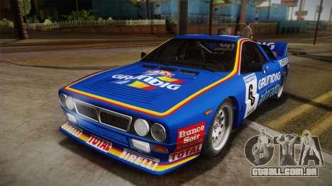 Lancia Rally 037 Stradale (SE037) 1982 Dirt PJ3 para GTA San Andreas vista direita