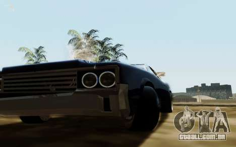 HD Sabre Greedy para GTA San Andreas vista traseira
