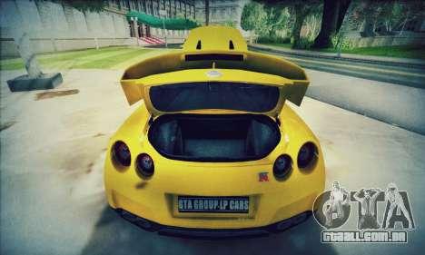 Nissan GT-R R35 Premium para GTA San Andreas vista interior