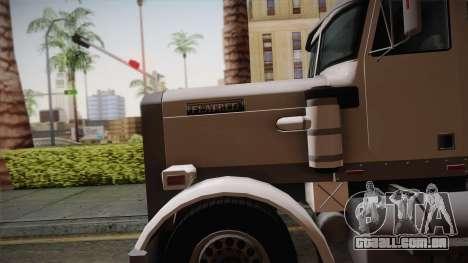 GTA 4 Flatbed para GTA San Andreas traseira esquerda vista