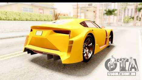 GTA 5 Emperor ETR1 IVF para GTA San Andreas vista direita