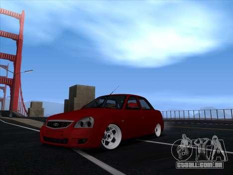 VAZ 2170 STANCE para GTA San Andreas traseira esquerda vista