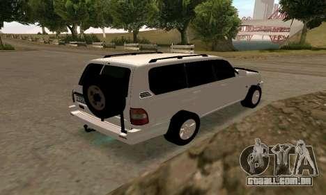 Toyota Land Cruiser 105 para GTA San Andreas vista direita