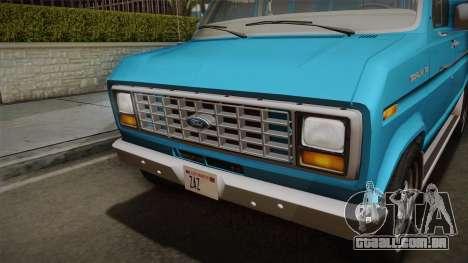 Ford E-150 Commercial Van 1982 2.0 para GTA San Andreas vista direita
