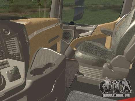 Mercedes-Benz Actros Mp4 6x2 v2.0 Gigaspace para GTA San Andreas vista interior