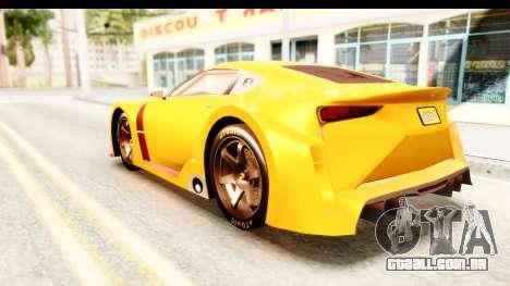GTA 5 Emperor ETR1 IVF para GTA San Andreas esquerda vista