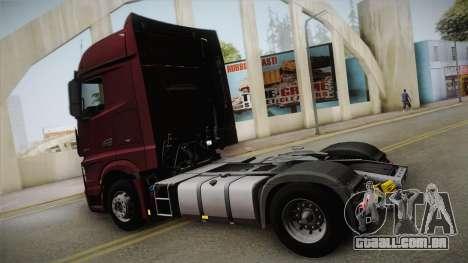 Mercedes-Benz Actros Mp4 4x2 v2.0 Bigspace v2 para GTA San Andreas esquerda vista