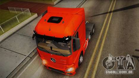 Mercedes-Benz Actros Mp4 6x2 v2.0 Steamspace v2 para GTA San Andreas vista traseira