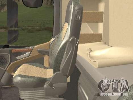 Mercedes-Benz Actros Mp4 v2.0 Tandem Big para GTA San Andreas interior