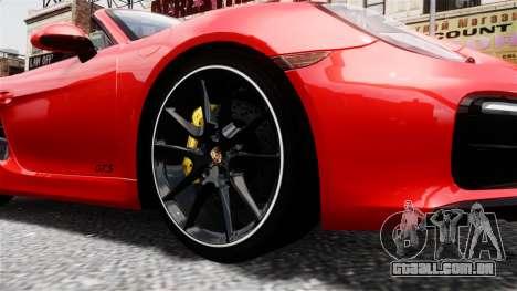 Porsche Boxster GTS 2014 para GTA 4 vista direita