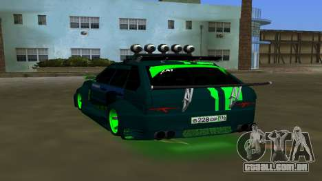 VAZ 2114 DPS Tuning para GTA Vice City vista traseira esquerda