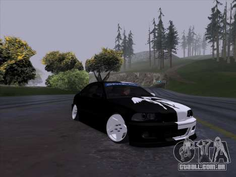 BMW E46 Good and Evil para GTA San Andreas traseira esquerda vista