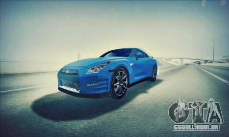 Nissan GT-R R35 Premium para GTA San Andreas vista direita
