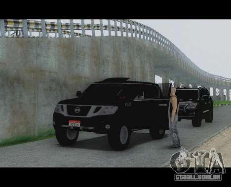 Nissan Patrol para GTA San Andreas traseira esquerda vista