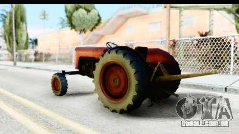 Fireflys Tractor para GTA San Andreas esquerda vista