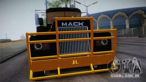 Mack R600 v1 para GTA San Andreas vista direita