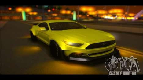 Ford Mustang 2015 Liberty Walk LP Performance para GTA San Andreas vista interior