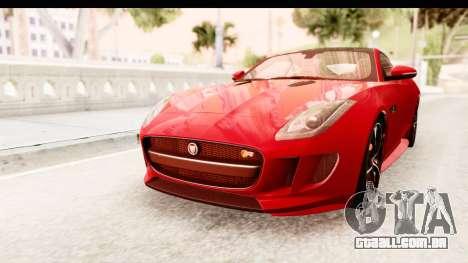 Jaguar F-Type R Coupe 2015 para GTA San Andreas vista direita