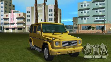 Mercedes-Benz G500 W463 2008 para GTA Vice City vista interior